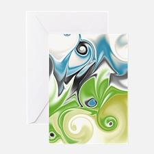 Stunning in Aqua and Green Greeting Card