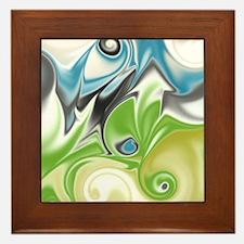 Stunning in Aqua and Green Framed Tile