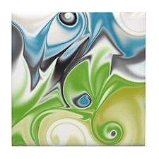 Stunning in Aqua and Green Tile Coaster