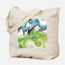 Stunning in Aqua and Green Tote Bag