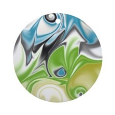 Stunning in Aqua and Green Round Ornament