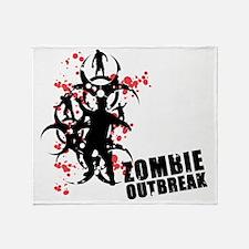zombie outbreak Holocaust Warning Throw Blanket