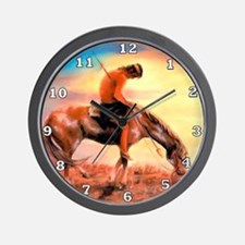 End of the Trail Wall Clock