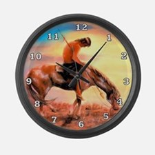 End of the Trail Large Wall Clock