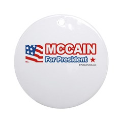MCCAIN for President Ornament (Round)