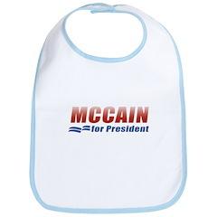 MCCAIN for President Bib