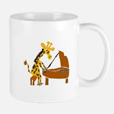 Giraffe Playing Piano Mugs