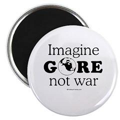 """Imagine Gore not war 2.25"""" Magnet (10 pack)"""