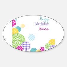 Happy Birthday Nana Decal