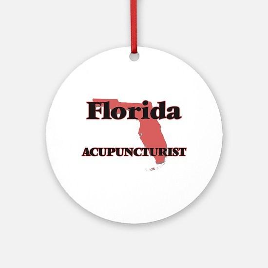 Florida Acupuncturist Round Ornament