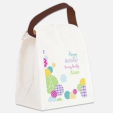 Happy Birthday Niece Canvas Lunch Bag