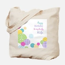 Happy Birthday Wife Tote Bag