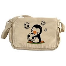 Soccer Penguin Messenger Bag