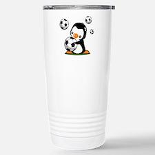 Soccer Penguin Travel Mug