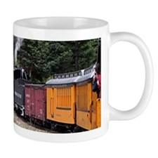 Steam train & river, Colorado Mugs