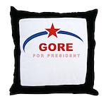 Gore for President Throw Pillow