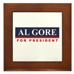 Al Gore for President Framed Tile