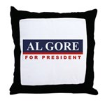 Al Gore for President Throw Pillow