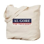Al Gore for President Tote Bag
