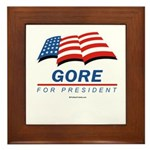 Gore for President Framed Tile