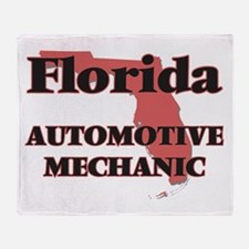 Florida Automotive Mechanic Throw Blanket