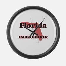 Florida Embroiderer Large Wall Clock