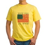 Vote for Al Gore Yellow T-Shirt