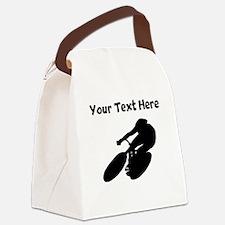 Cyclist Canvas Lunch Bag
