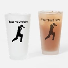 Cricket Player Drinking Glass