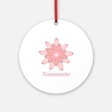 Namaste Pink Lotus Round Ornament