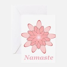 Nanaste Pink Lotus Greeting Cards