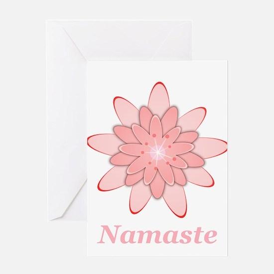 Nanaste Pink Lotus Greeting Cards