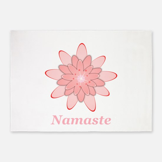 Nanaste Pink Lotus 5'x7'Area Rug