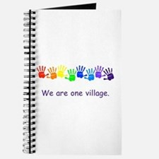 We Are One Village Rainbow Gifts Journal