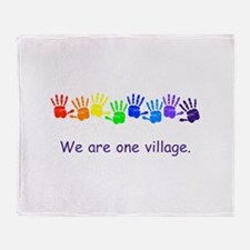 We Are One Village Rainbow Gifts Throw Blanket