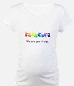 We Are One Village Rainbow Gifts Shirt