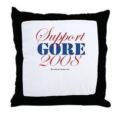 Support Gore Throw Pillow