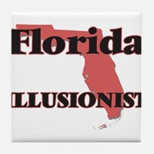 Florida Illusionist Tile Coaster