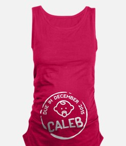 Baby Boy Due Stamp Caleb Maternity Tank Top