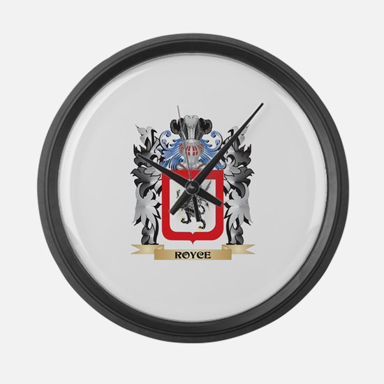 Royce Coat of Arms - Family Crest Large Wall Clock