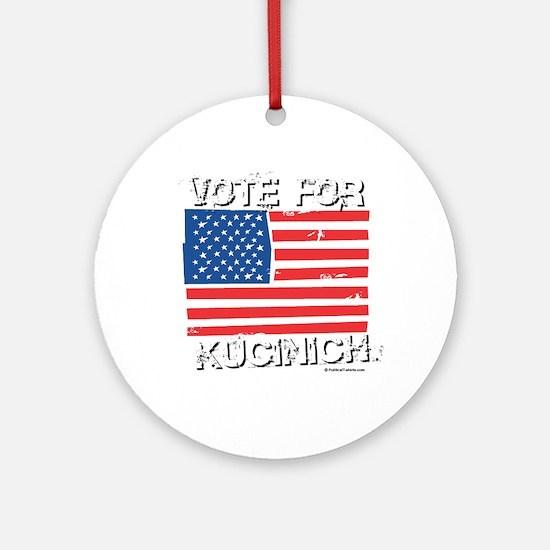 Vote for Kucinich Ornament (Round)
