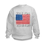 Vote for Kucinich Kids Sweatshirt