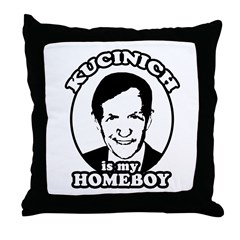 Kucinich is my homeboy Throw Pillow