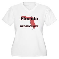 Florida Broadcaster Plus Size T-Shirt
