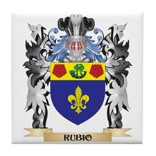 Rubio Coat of Arms - Family Crest Tile Coaster