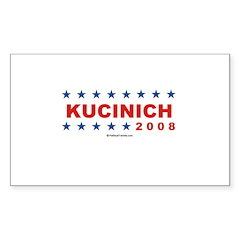 Dennis Kucinich 2008 Rectangle Decal