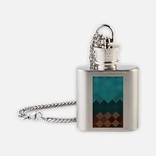Blue Pixel Horizon Flask Necklace