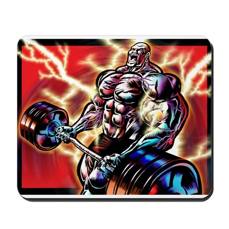 BODYBUILDING CURL Mousepad