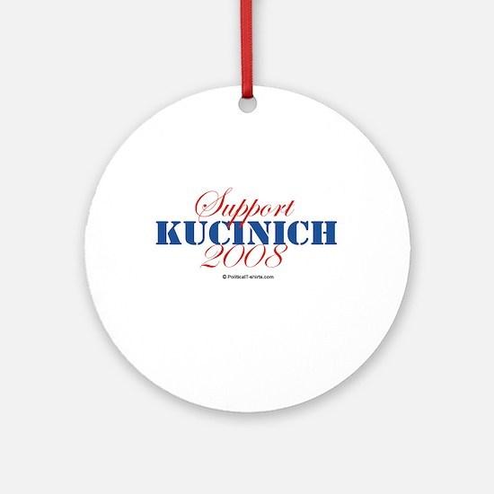Support Kucinich Ornament (Round)