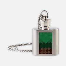 Green Pixel Horizon Flask Necklace
